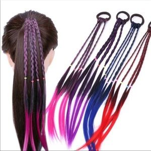 Trendy Colored & Braided Hair Tie BandsNWT for sale